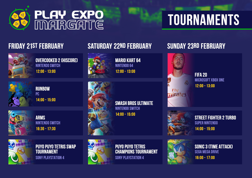 RE PlayExpo Margate20 Schedule Tournaments1024